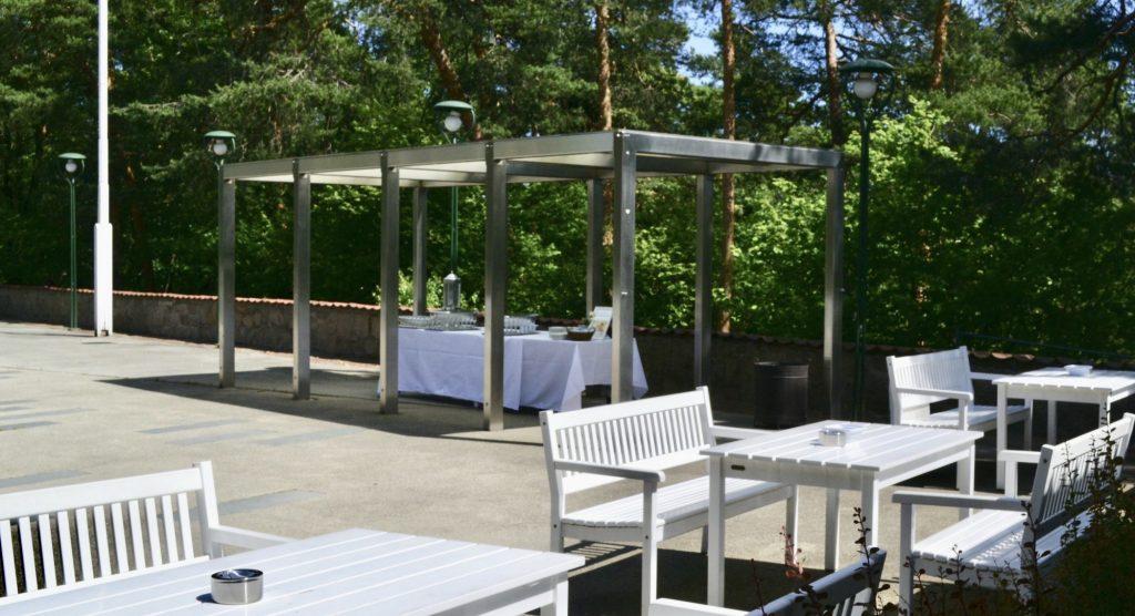 Selskapslokaler i Oslo, Gjestestuenes uteområder