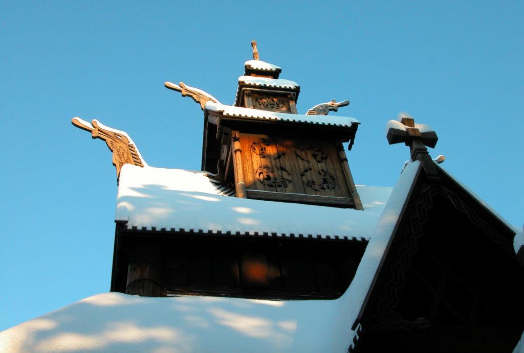 Vinterbryllup i Oslo, Gjestestuene og stavkirken på Norsk Folkemuseum