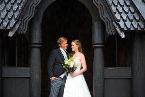 Bryllup i stavkirken på Norsk Folkemuseum, bryllupslokaler på Gjestestuene